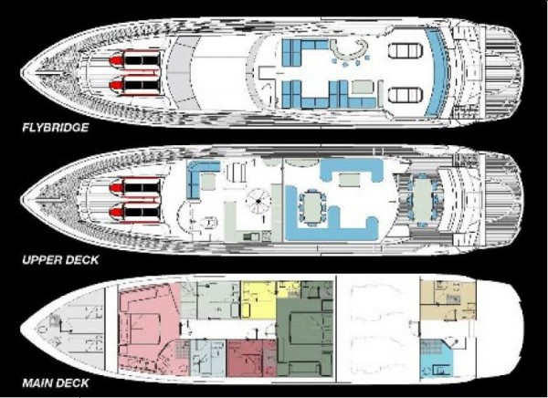 Yacht à moteur Azmim